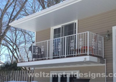4 Balcony Guardrails by Weltz Custom Metal Designs