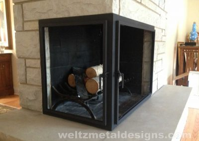 Fireplace Mantels and Surroundings by Weltz Custom Metal Designs 1