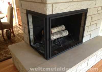 Fireplace Mantels and Surroundings by Weltz Custom Metal Designs 2