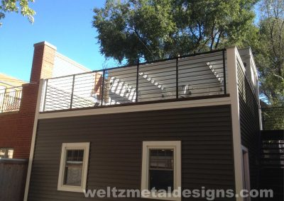 Patio, deck railings and guardrails by Weltz Custom Metal Designs 11
