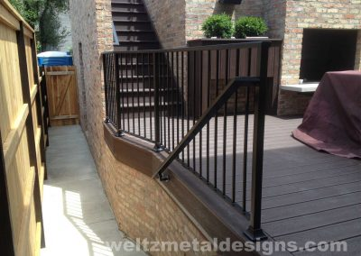 Patio, deck railings and guardrails by Weltz Custom Metal Designs 2