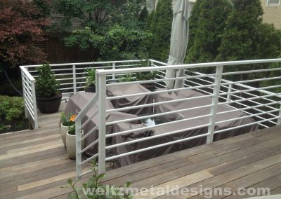 Patio, deck railings and guardrails by Weltz Custom Metal Designs 4