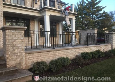 Patio, deck railings and guardrails by Weltz Custom Metal Designs 5
