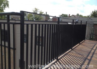 Patio, deck railings and guardrails by Weltz Custom Metal Designs 6